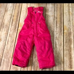 3T Girls Weatherproof snow bib snow pants pink